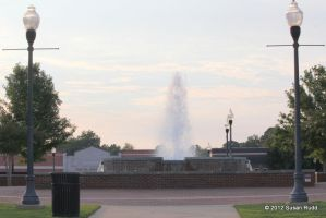 The Fountain at the Courthouse Square by Rjet33