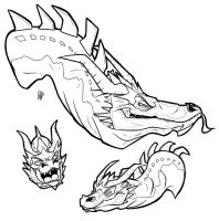 Smaug, The Magnificent! - Expression Practice by secoh2000