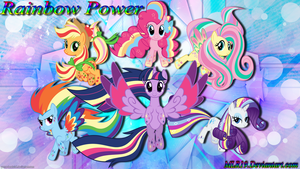 Rainbow Power Ponys by MLR19