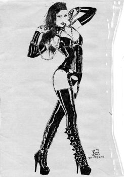 Latex Couture Sketch by WhiteBoneDemon
