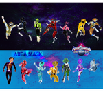 Universal Rangers/Aura Mask Team-Up by LeveyYes