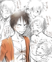 Expression of Luffy by Yuekie