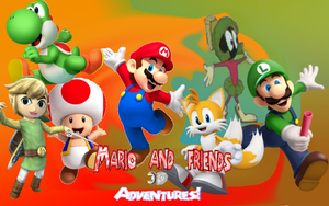Mario and friends 3D adventure wallpaper by Aso-Designer