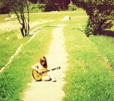 me and my guitar by Helliew