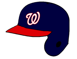 Washington Nationals road batting helmet by Chenglor55