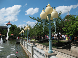 Kennywood Street Lamps by a Fountain by TheStockWarehouse