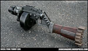 Mobster Dieselpunk Tommy Gun Prop by JohnsonArms