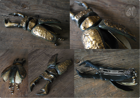 Stag Beetle Barrette by Nymla