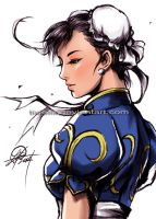 Chun Li sketch 20.06.14 by TixieLix