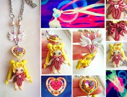 One of a kind Handmade Sailor Moon Transformation by mayumi-loves-sora