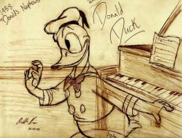 Donald Duck Piano Sketch by Arielle-Kasa