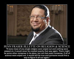 Penn Fraser Jillette on religion and science by fiskefyren