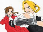 The Elric Brothers by The-Kawaii-Kitty