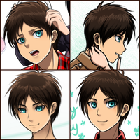 Eren random faces by Vhenyfire
