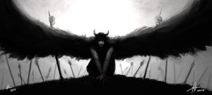 Collab: Demon Angel Crow Thing by TheBoyofCheese