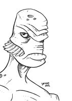 Gillman Creature from the Black Lagoon by JesseAcosta