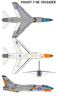 Vought F-8E Crusader by bagera3005
