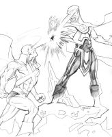Classic Vs DCNU Martian Manhunter by guinnessyde