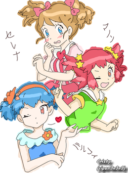 Serena, Manon and Miette by Viper3n3n3