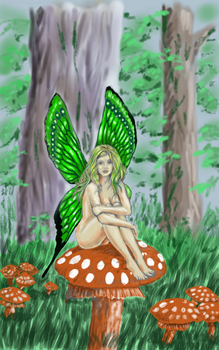 The Green Faerie by pwjorg