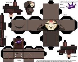 Cubeecraft of Amon From Avatar Legend of Korra by SKGaleana