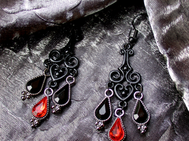 Heartdrop: Goth Earrings (for sale) by ArtLoDesigns