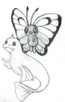 Butterfree and Dewgong by SquirrelGirl111
