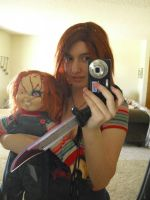 Chucky and Sexy Chucky by sonicshadowlover13