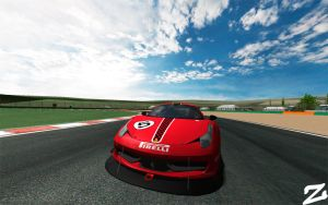 Ferrari 458 at Vallelunga 4 by ZowLe