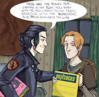 sirius and remus, flatmates HP by LamechO