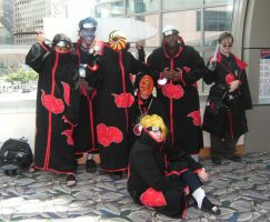The Akatsuki at Gencon by SpellboundFox