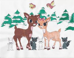 Rudolph and Clarice by cosmic-rockstar