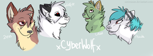 ~Gift for xCyberWolfx~ .:Charas:. by SenimaSan