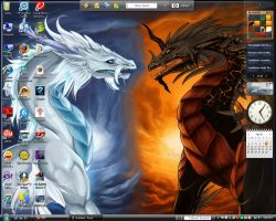 Desktop Screen Shot Dragons by InuYashaDiva15