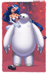 Baymax and Felicia by b-nine
