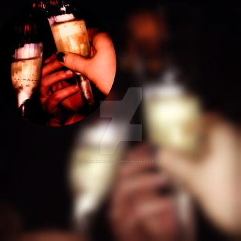 Champagne Toast by TangledPhotographer