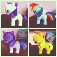 My Little Pony plushies! by Moshiro