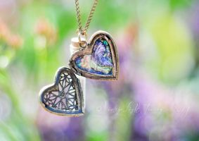 Butterfly Fairy Locket and Glownig Fairy Dust by VintageLightJewelry