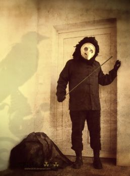 Plague Doctor entering in a house by Shelter2030
