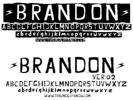 typeface : Brandon ver:02 by sampratot
