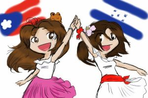 puerto rico and honduras by GlitterGeekAngel
