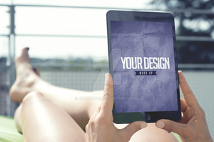 Tablet - Realistic Mock Up by DOMDESIGN