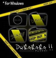 Drrr!! folder icons - WINDOWS by Machus-san