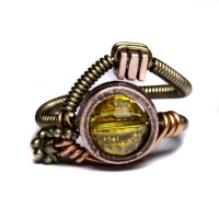 Steampunk ring Citrine 1 by CatherinetteRings