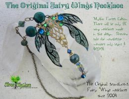 Unseelie Fairy Wing Necklace by elvenelysium