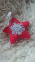 Felt Ornament - Star with Snowflake by TerraRavenBearheart