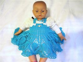 Crocheted Baby dress by Momtat31