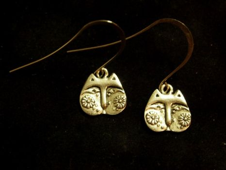 Cat Lady Earrings by TheJugulateJeweler