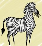 Kickstarter Drawing #5 - Stylized Zebra by RomanJones