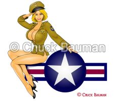 WW2 bomber Pin-Up Girl by Chuck-Bauman